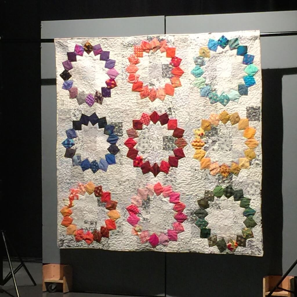 Sewing with nancy bungalow quilting yarn heres one of the quilts that we presented it is called aromatic rings this is made from squares truly each piece is made from a 5 12 inch square jeuxipadfo Image collections